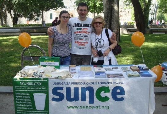 Sunce presented on Volunteer days in Split