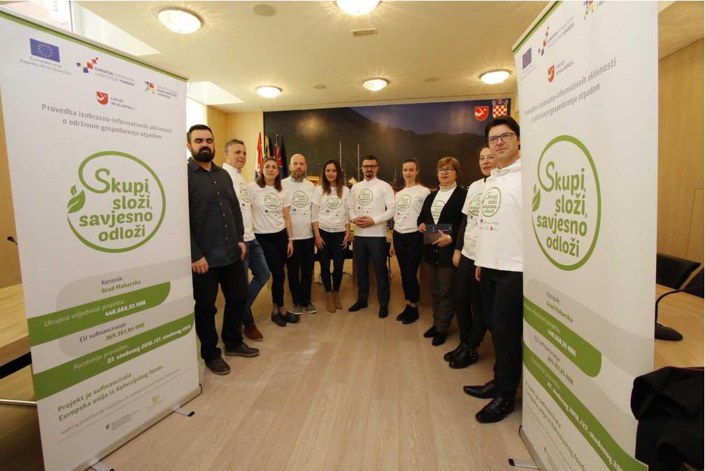 """""""Skupi, složi, savjesno odloži"""": niz aktivnosti Udruge Sunce u Makarskoj"""