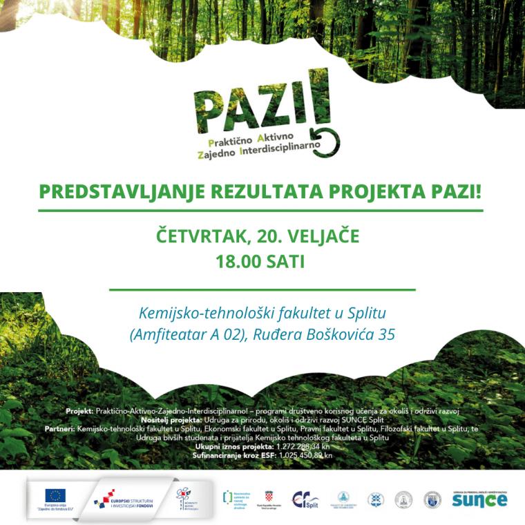 Predstavljanje rezultata projekta PAZI!