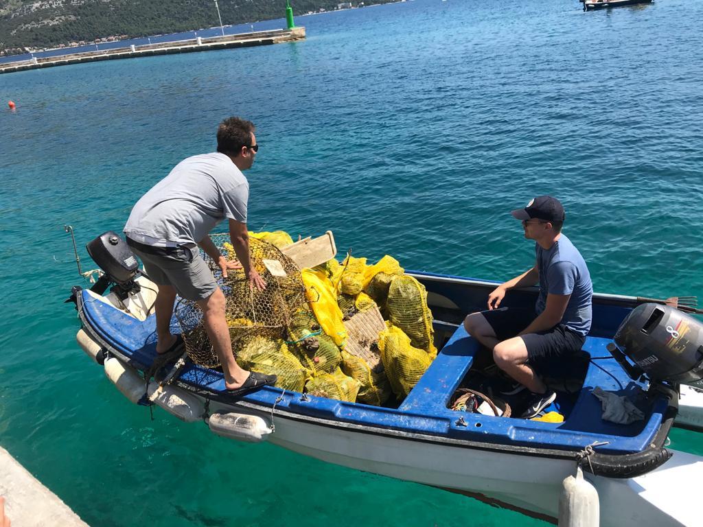 Prva akcija prikupljanja otpada iz mora u Dubrovačko-neretvanskoj županiji